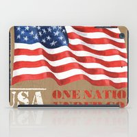 patriotic iPad Cases featuring Patriotic Text by Debbie DeWitt
