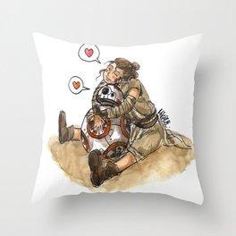 Rey & BB-8 #1 Throw Pillow