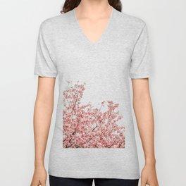 Cherry Blossoms (Color) Unisex V-Neck
