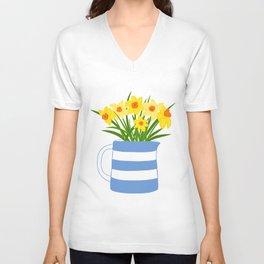 Cornish Daffodils Unisex V-Neck