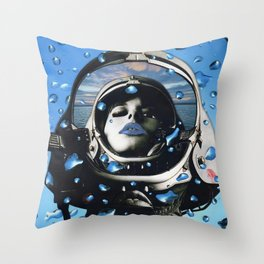 Blue Below Throw Pillow