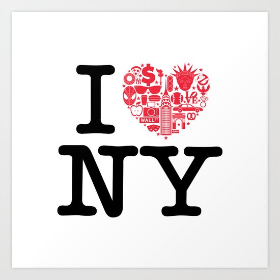 I everything NY Art Print