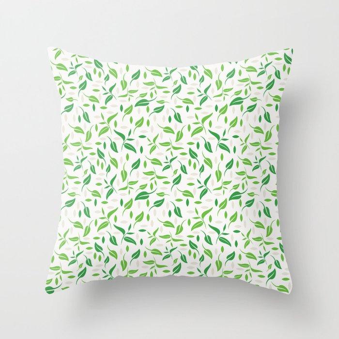 Tea Leaves Pattern Throw Pillow