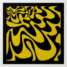 Swirly Whirly: Abstract Pop Art Painting by Bruce Gray Art Print