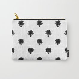 Black and White Tropical Print Pattern Carry-All Pouch