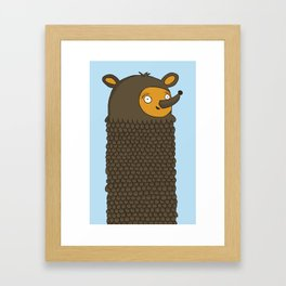 Tall Bear Framed Art Print