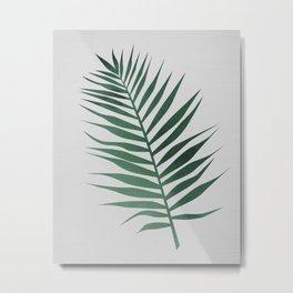 Watrcolor Palm Leaf Metal Print