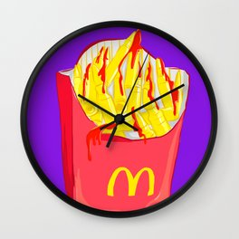 Bloody French Fries Wall Clock