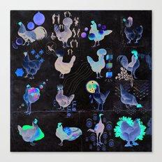 Defenseless Chickens Canvas Print