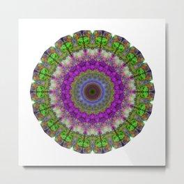 Soft Light - Kaliedescope Mandala By Sharon Cummings Metal Print