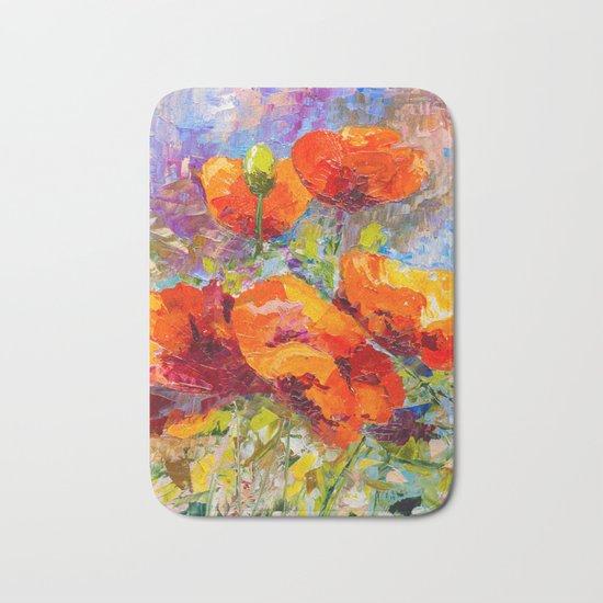 Wild poppies Bath Mat