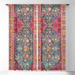 N131 - Heritage Oriental Vintage Traditional Moroccan Style Design Blackout Curtain