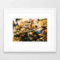 bikes Framed Art Prints featuring Bikes by GF Fine Art Photography