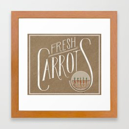 Fresh Carrots Framed Art Print