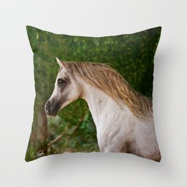 Arabian Stallion Throw Pillow