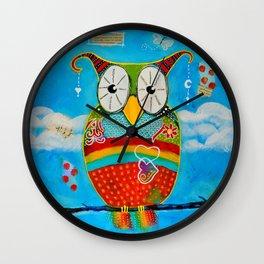 """""""Bohemian Owl"""" Wall Clock"""