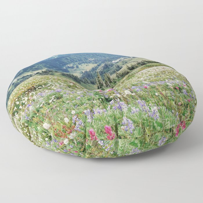 Wildflower Meadow Floor Pillow