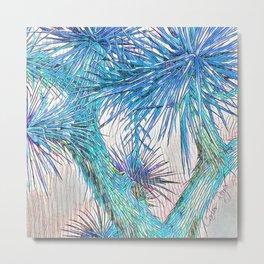Joshua Tree VGBlue by CREYES Metal Print