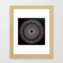 Neon Tranquility Framed Art Print