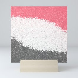 Gray and Pink Mini Art Print