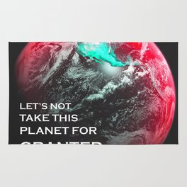 Let's not take this planet for granted - Leo Rug