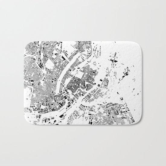 Copenhagen Map Schwarzplan Only Buildings Bath Mat