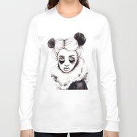 red panda Long Sleeve T-shirts featuring Panda by Nora Bisi
