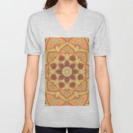 Yoga Henna buddha mandala pattern Unisex V-Neck