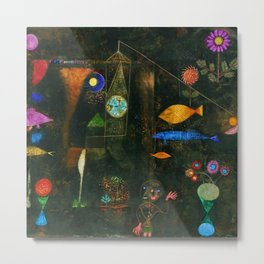 'Fish Magic No. 2' Aquatic, Celestial, Floral, Earthly Entities Portrait by Paul Klee Metal Print