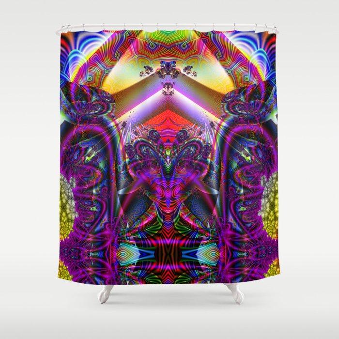 BBQSHOES: Fractal Digital Art Design 3114b Shower Curtain
