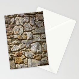 Old Mill Rock Wall Texture Stationery Cards