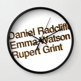 Harry P cast Wall Clock