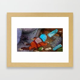 Space and the Wizard Framed Art Print