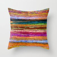 indian Throw Pillows featuring Indian Colors by Joke Vermeer