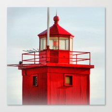 Big Red Lighthouse Canvas Print