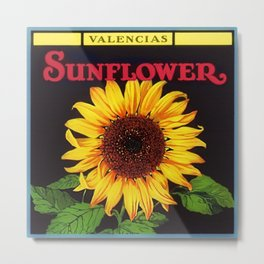 Vintage Red Orangedale Sunflower Crate Decorative Art Label Poster for kitchen or dinning room  Metal Print