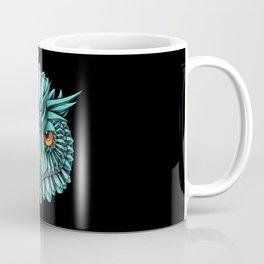 Crystal Owl Blue Coffee Mug