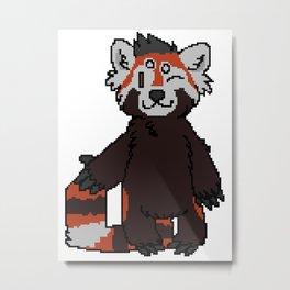 Pixel Panda Metal Print