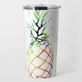 Retro Pineapples Travel Mug