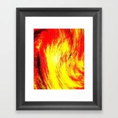 Fire. Framed Art Print