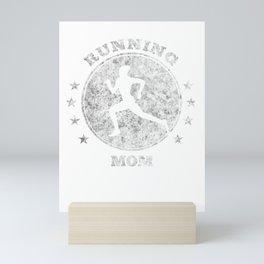 Running Mom I Runner Half Marathon Gift Idea Women Mini Art Print