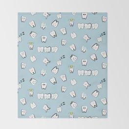 Teeth pattern Throw Blanket