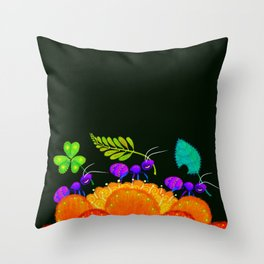 Delivery Ants Throw Pillow