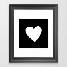 Big Heart Framed Art Print
