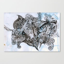 Animal ramble Canvas Print