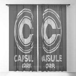 Capsule Corp. Sheer Curtain