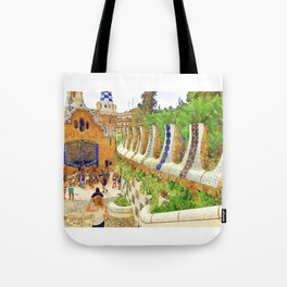 Park Guell, Barcelona, Spain Tote Bag