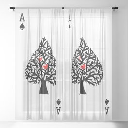 Ace of spade Sheer Curtain