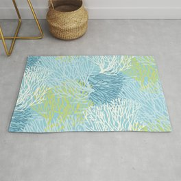 Coastal Style Coral with Fish Rug