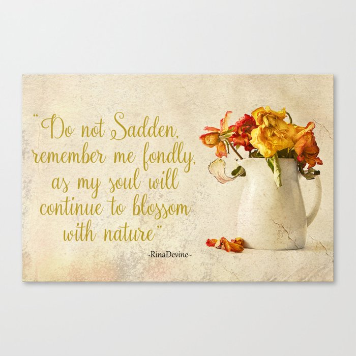 Do not sadden Canvas Print